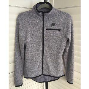 EUC Nike Small Gray Fleece Zip Jacket Sweatshirt